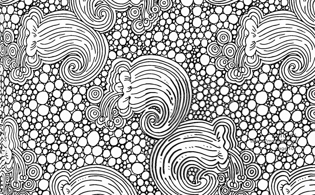手绘工笔画黑白线描稿背景图片下载素材-几何抽象图案