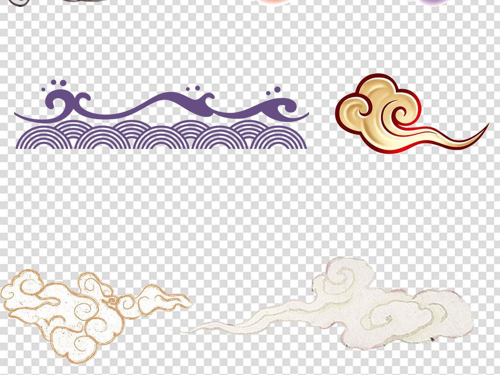 古风复古古典中国风祥云图案元素素材