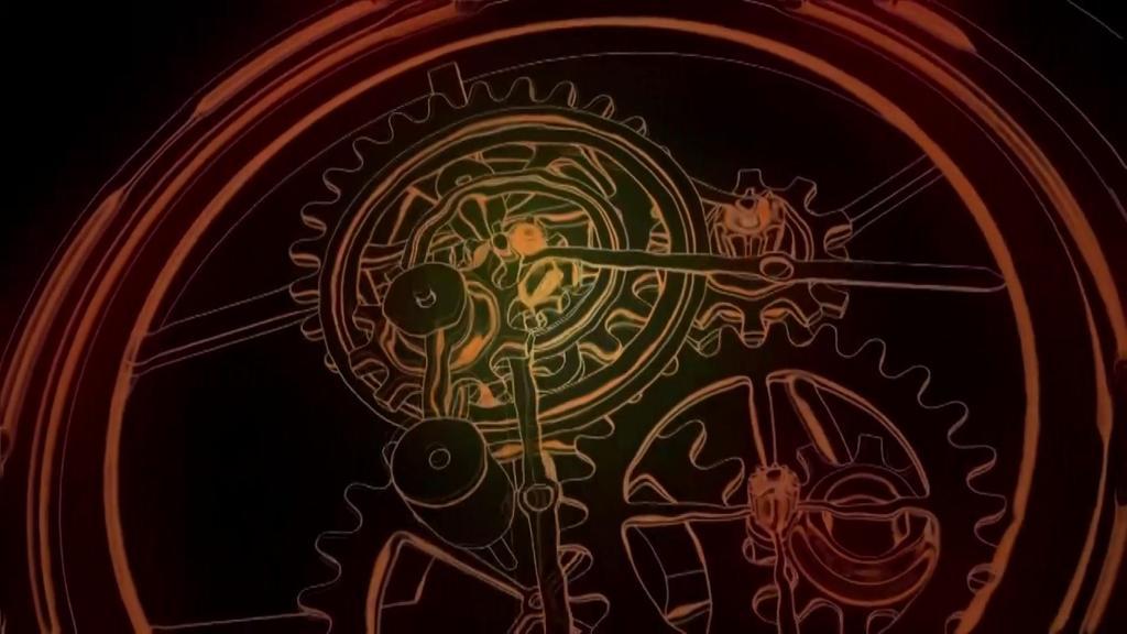 3d光影机械钟素材
