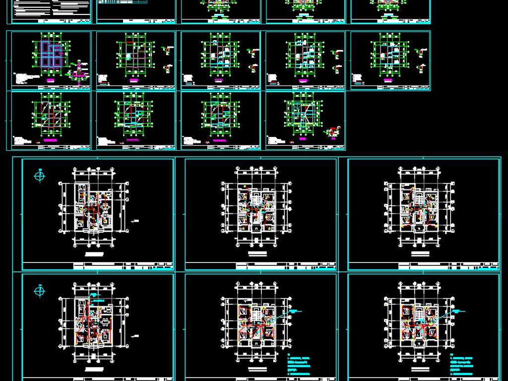 新农村别墅自建房cad图纸下载平面设计图(图片1,875.