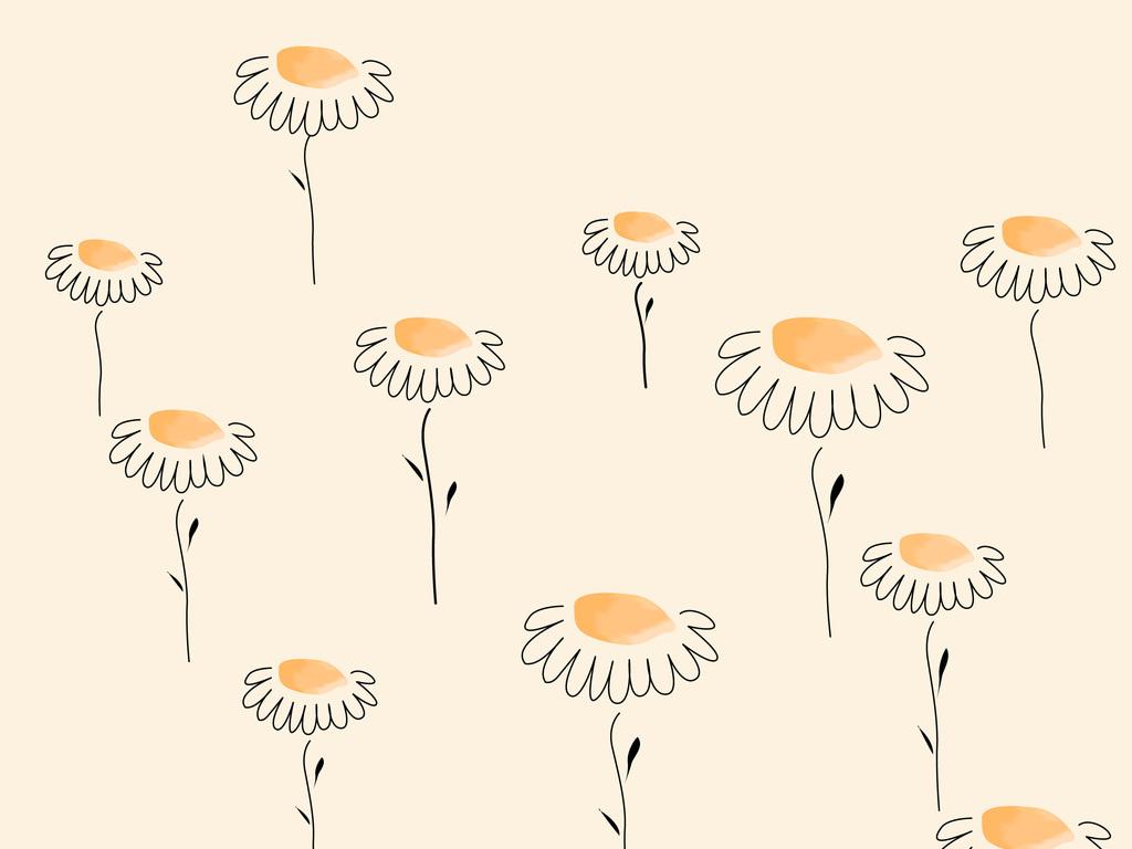 卡通手绘太阳花图案