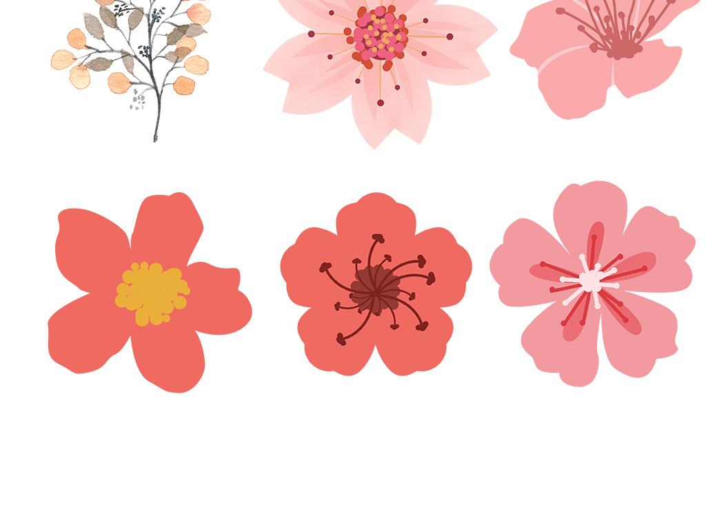素材唯美桃花素材桃花樱花花瓣素材唯美素材水彩花瓣素材粉色免抠图片