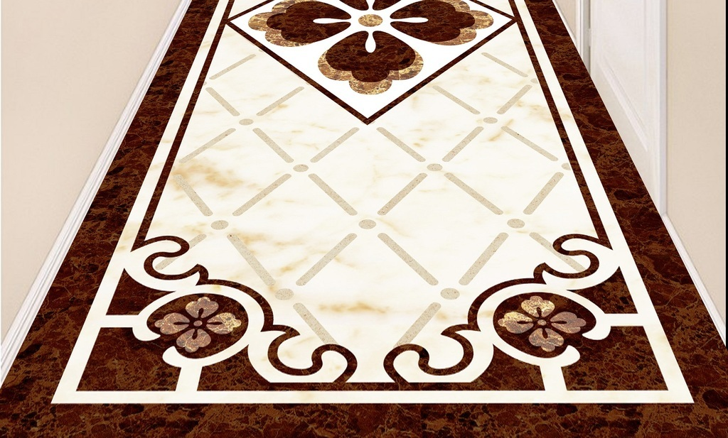欧式拼花瓷砖水刀拼花地砖地毯图案天顶壁画图片