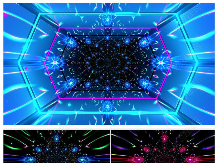 动感节奏3D空间穿梭动画暖场舞视频