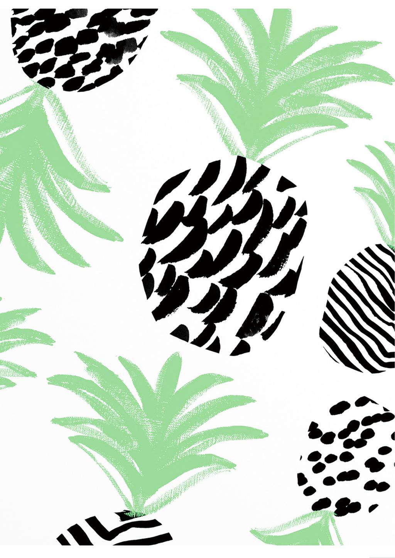 手绘菠萝背景图案