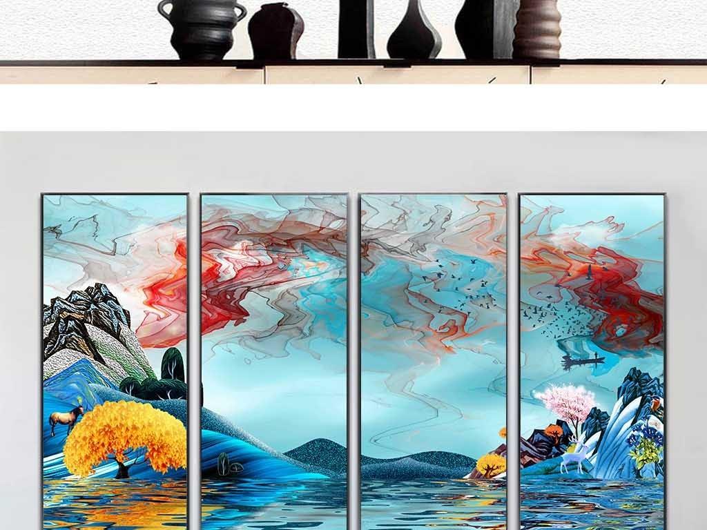 手绘中国风古典禅意装饰画壁挂画