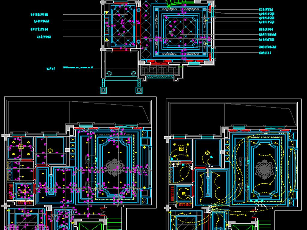 全套小别墅cad图纸平面设计图下载(图片12.48mb)_cad