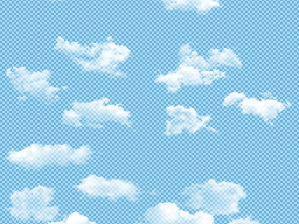 卡通手绘白云乌云云彩云朵png