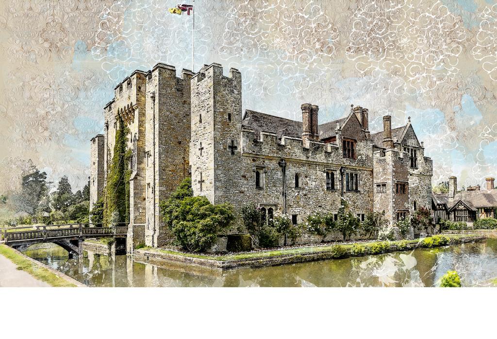 背景墙|装饰画 电视背景墙 电视背景墙 > 中世纪城堡英文复古墙纸壁纸