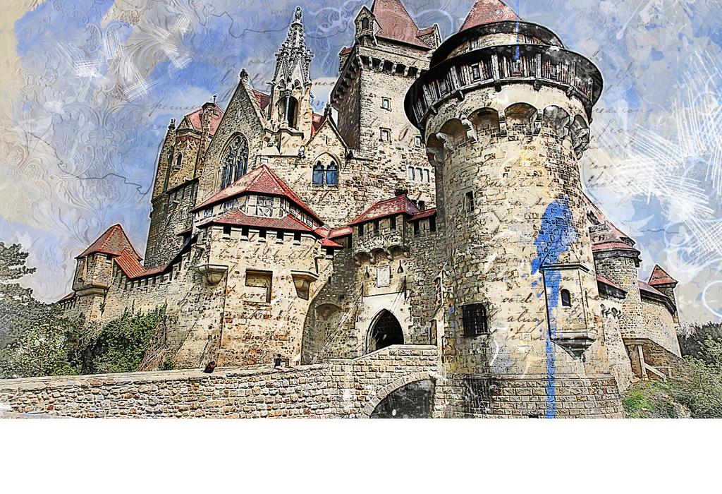 背景墙|装饰画 电视背景墙 电视背景墙 > 中世纪俄罗斯城堡复古墙纸