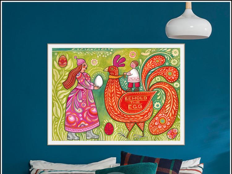 北欧简约美克美家手绘抽象人物动物装饰画