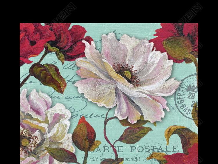 美式花卉美克美家进口装饰画