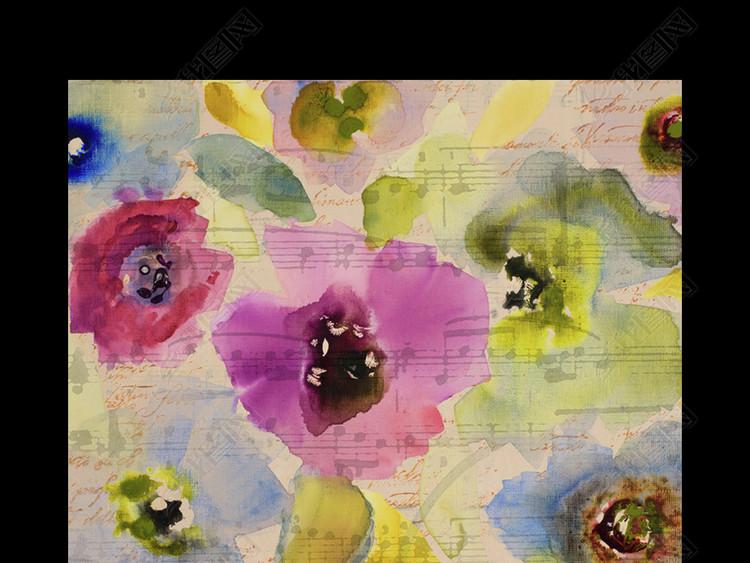 水彩花卉花朵美克美家进口装饰画
