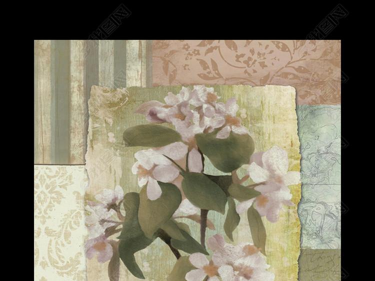 美克美家进口画芯花卉花朵装饰画
