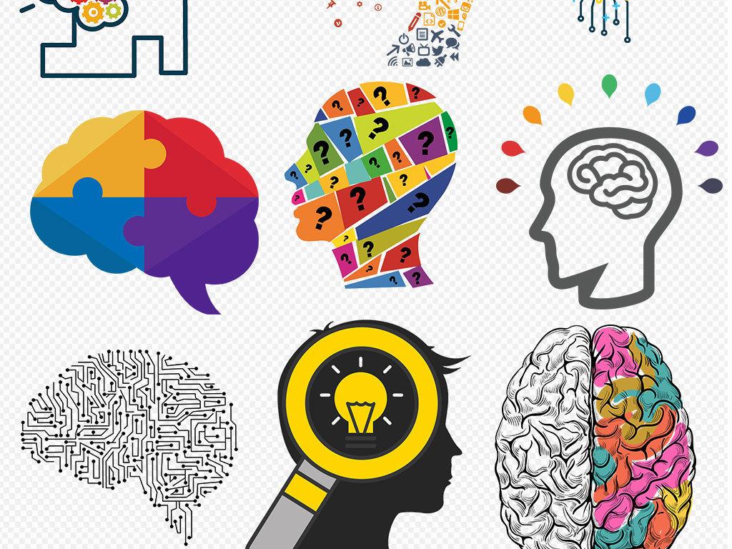 设计元素 背景素材 其他 > 创意头脑风暴大脑创意思维人脑元素  素材