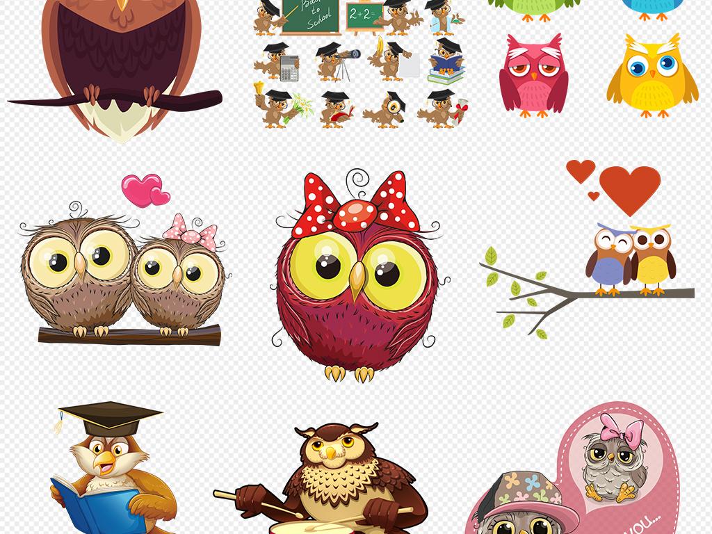 可爱卡通动物装饰可爱小动物手绘卡通装饰画图片