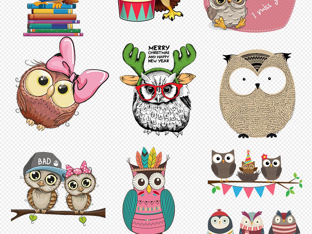 可爱卡通动物装饰可爱小动物手绘卡通装饰画