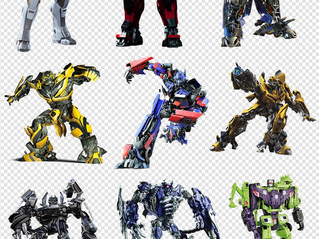 免抠元素 人物形象 动漫人物 > 50款变形金刚机器人png素材  素材图片