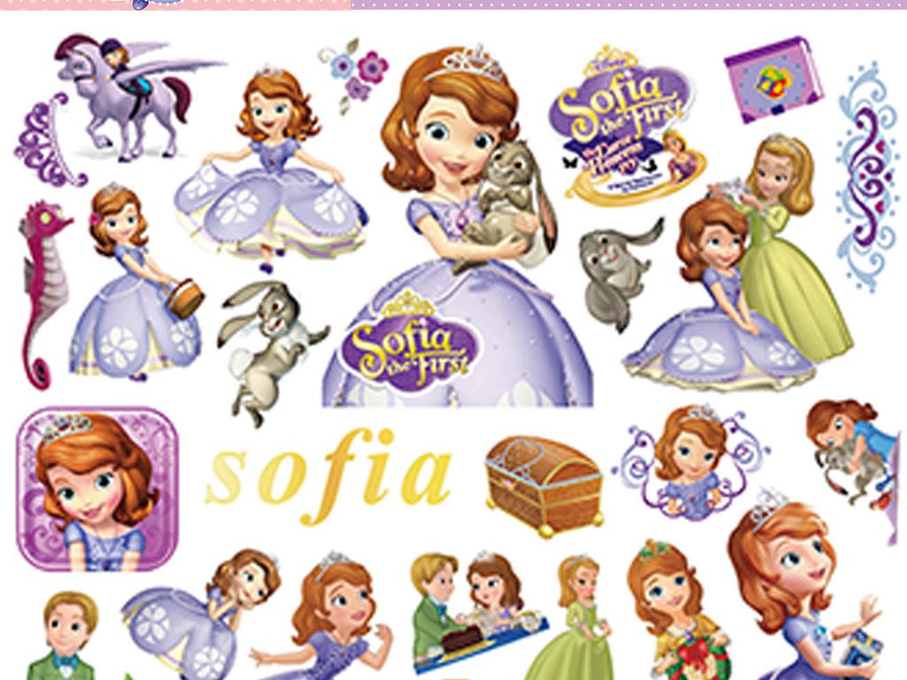 迪士尼卡通人物小公主苏菲亚sofa小公主卡通高清素材