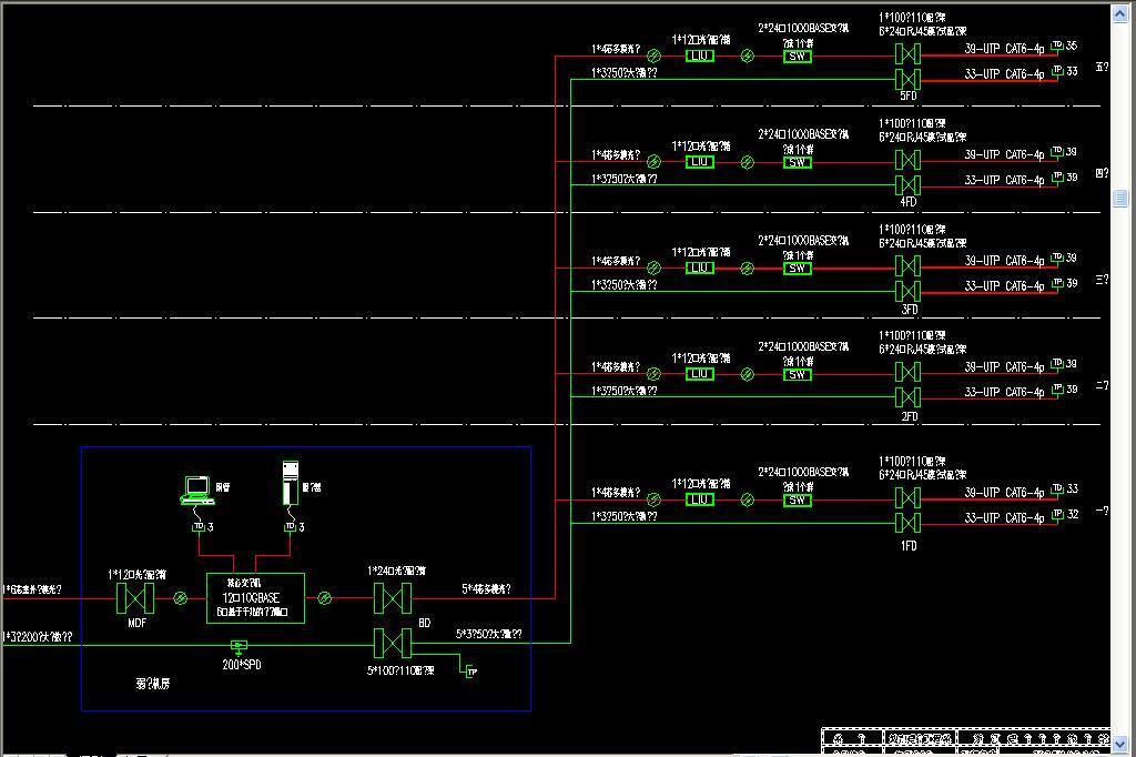 办公楼综合布线cad平面设计图下载(图片0.55mb)_cad