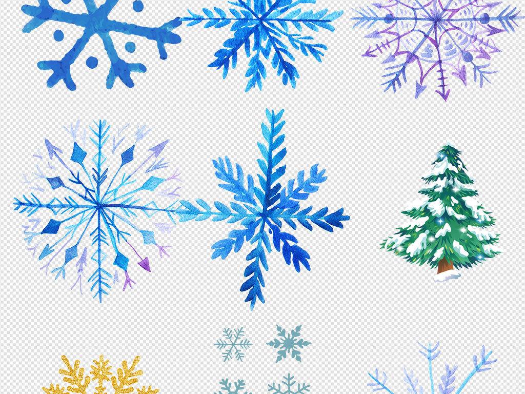 彩色手绘彩色雪花素材图片_模板下载(16.95mb)_办公