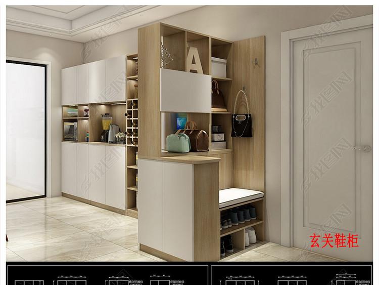 全屋定制榻榻米柜类家具CAD带彩图