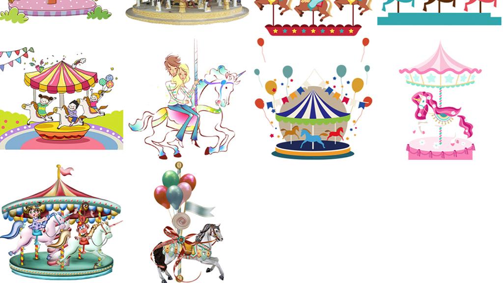 白马图片马马图片马素材手绘马水墨马画马旋转木马扣图图片素材木马