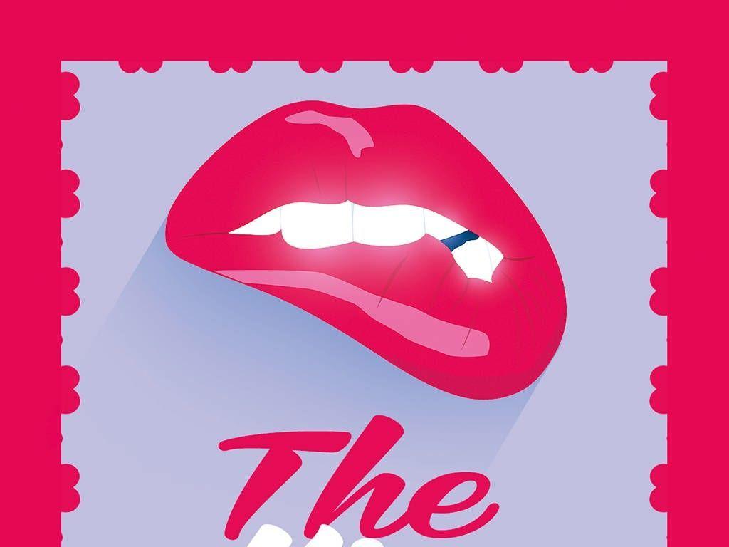 海报设计 创意海报 国外创意海报 > 手绘简约性感红唇情人节活动psd