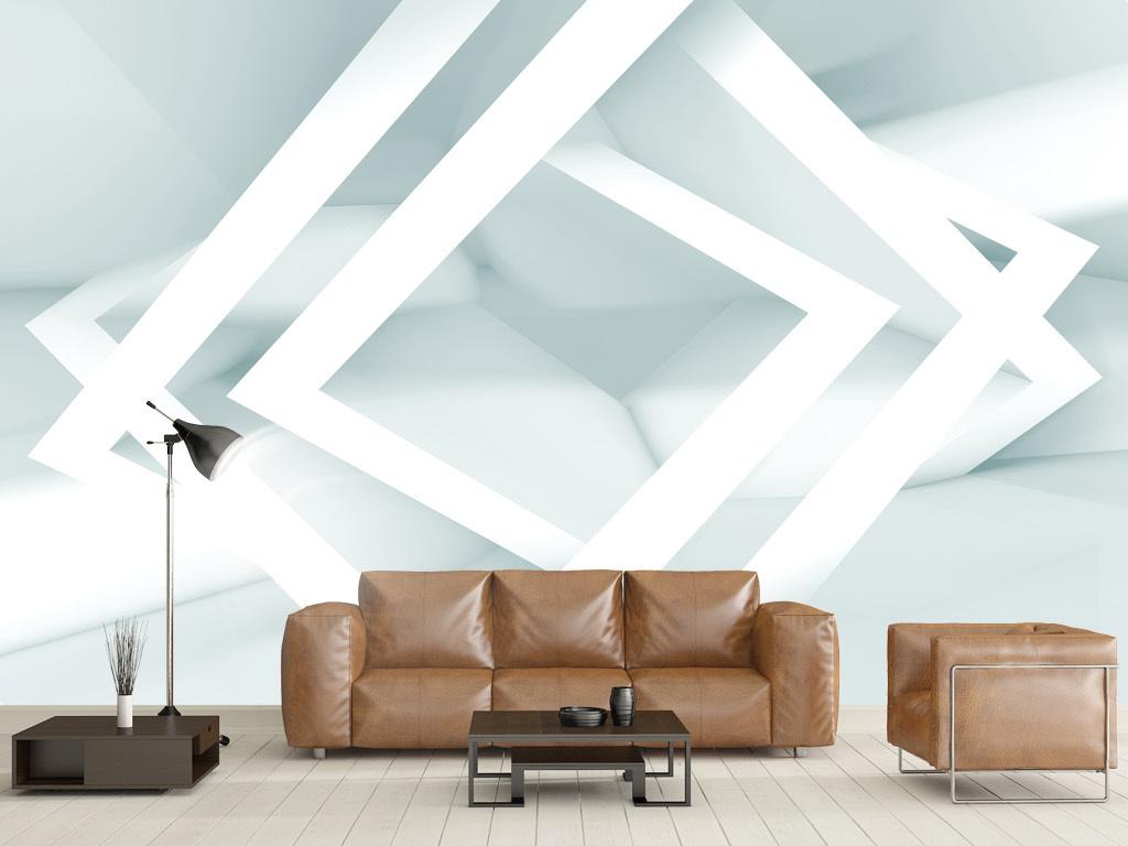 背景墙|装饰画 电视背景墙 手绘电视背景墙 > 几何图形立体清新背景墙