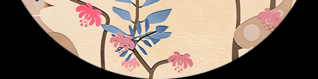 手绘中国风植物花鸟无框画