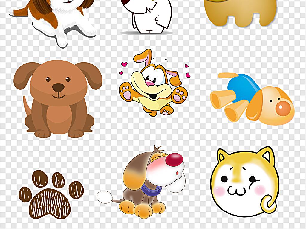可爱的卡通小狗图片素材_模板下载(24.71mb)_动物大全