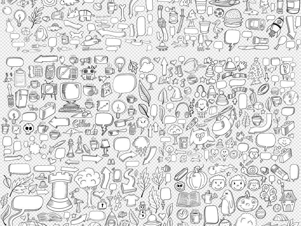 独家手绘矢量铅笔画创意大脑点亮梦想科技信息图表元素素材素材下载图片