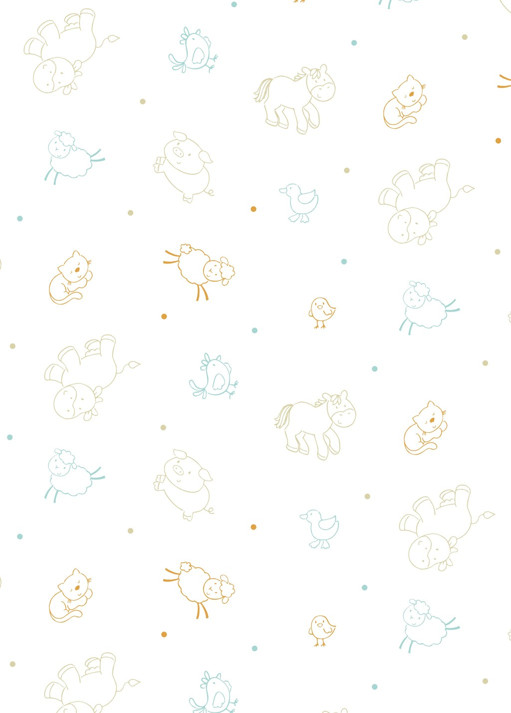 卡通动物面料图案设计