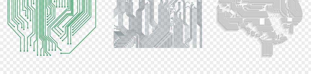 50款电路板科技线条png素材
