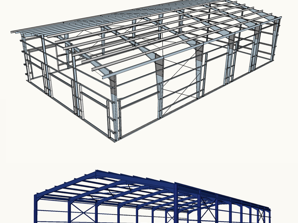 钢结构厂房su模型