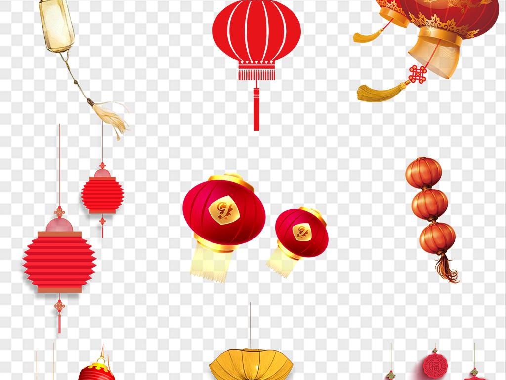 中国风新年新春中国结喜庆灯笼年货节素材