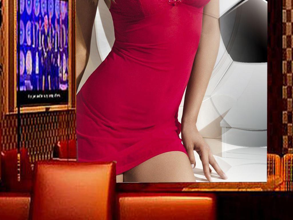 外国性感美女酒吧夜店工装玄关