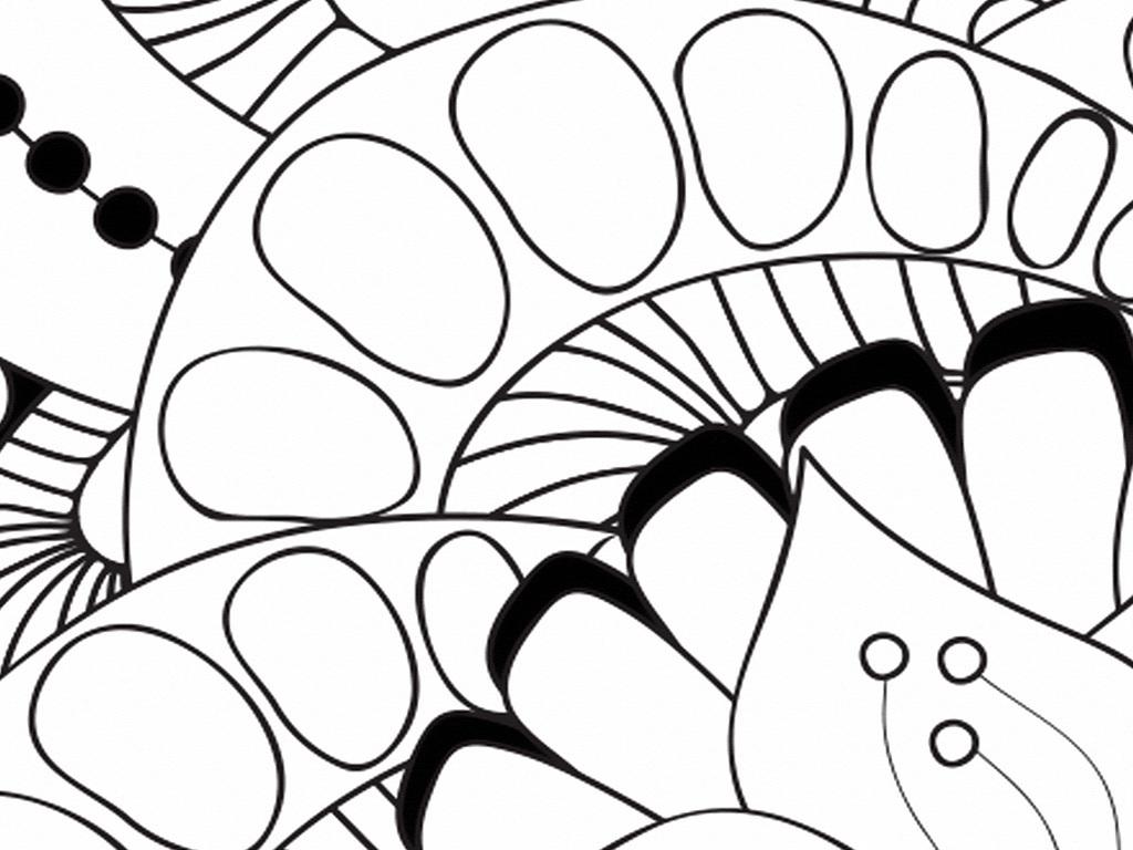 北欧抽象手绘黑白油画花卉现代北欧装饰画