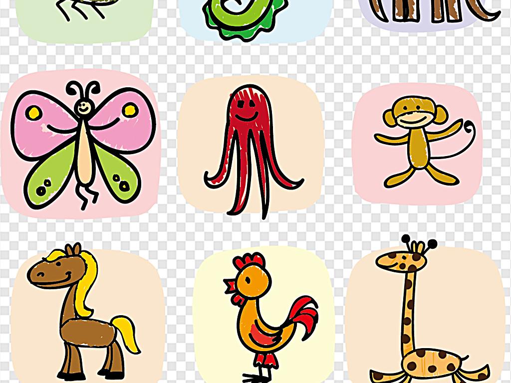 彩绘动物森林小动物卡通图片