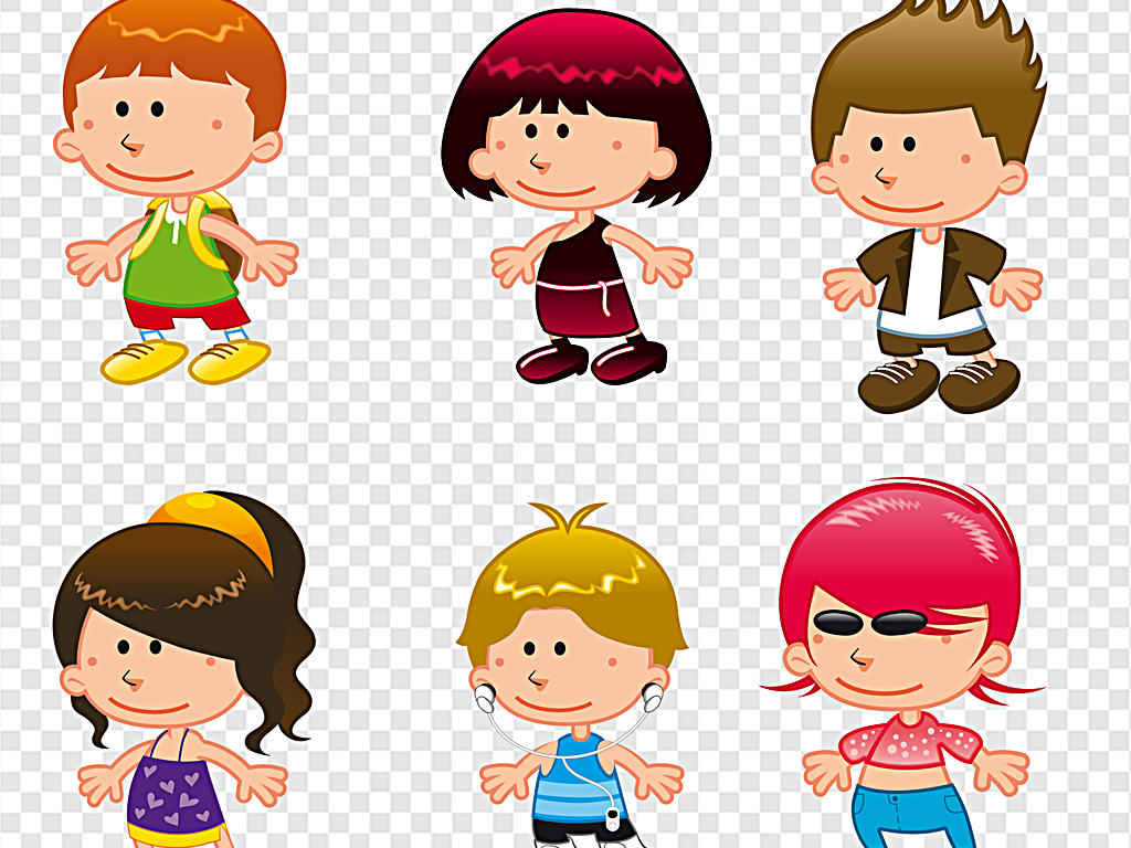 儿童卡通幼儿园小孩