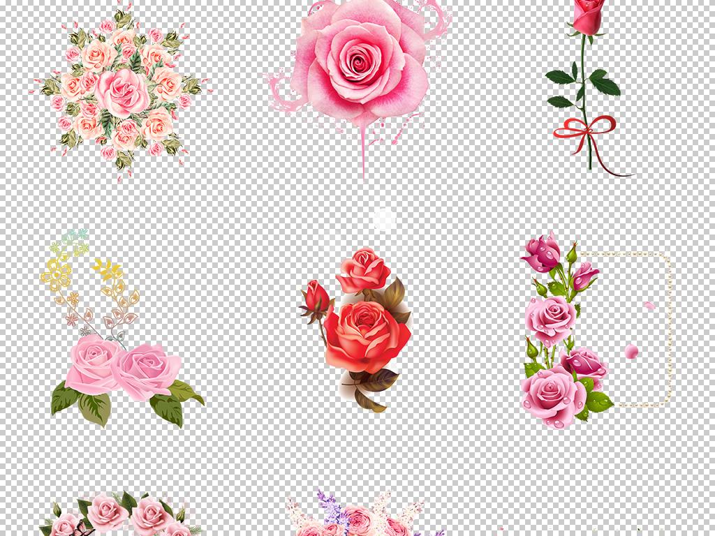 手绘玫瑰图片素材png免扣图片