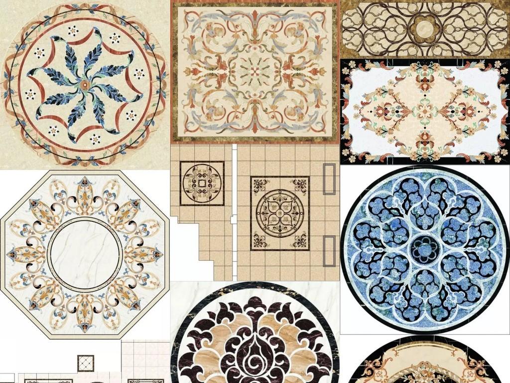大理石水刀拼花图案中式欧式花纹石纹图片图片