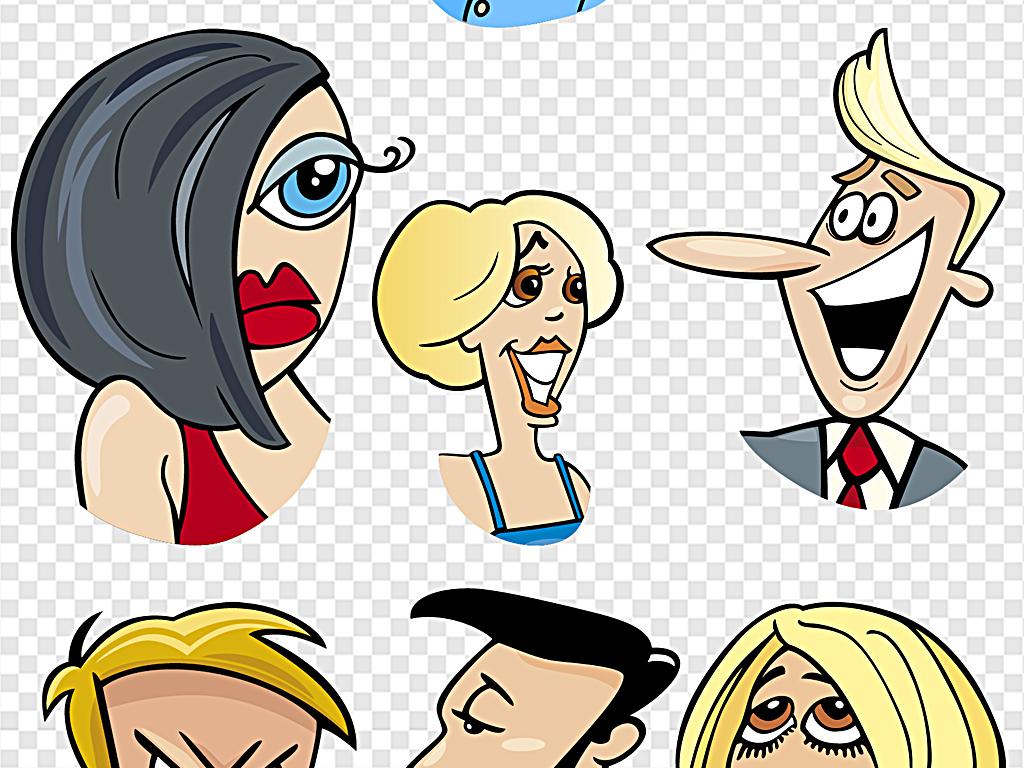 免抠元素 人物形象 动漫人物 > 喜怒哀乐表情笑脸表情  素材图片参数