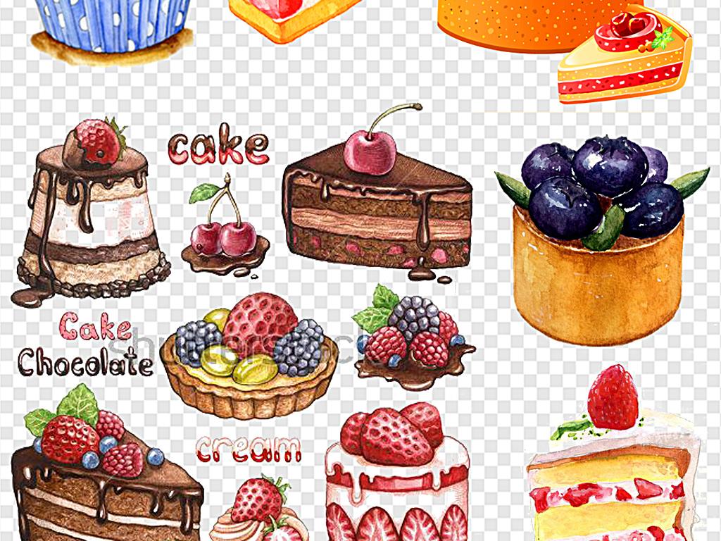 手绘蛋糕生日蛋糕卡通图片