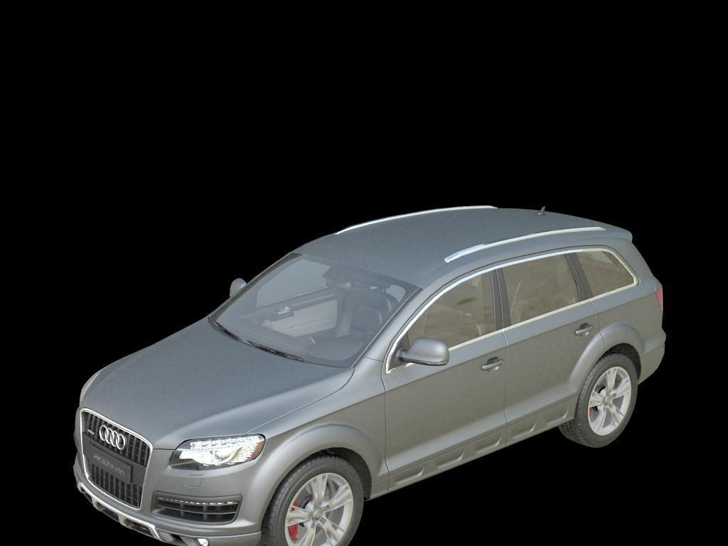 奥迪q7汽车3d模型