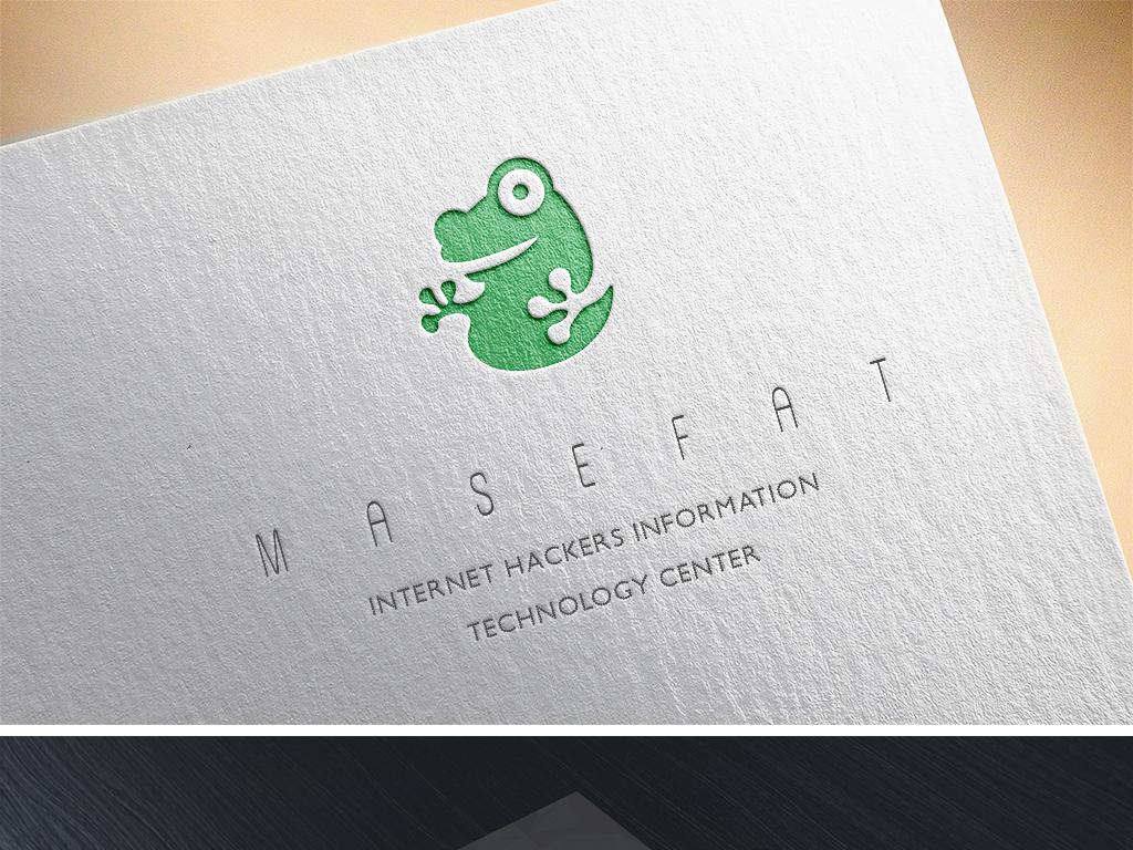 可爱卡通青蛙logo标志母婴童装商标设计