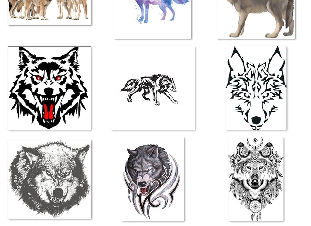 卡通手绘狼人动物狼头图片海报素材