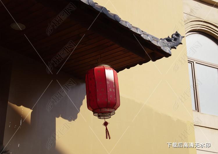 红色灯笼中国古风大尺寸