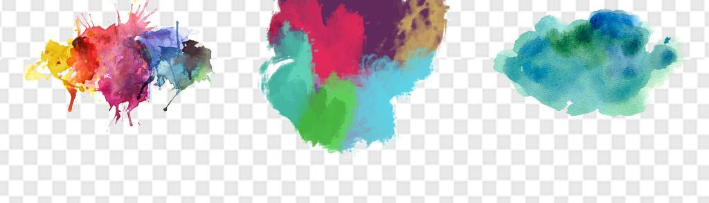 颜料剪影画人物画风景
