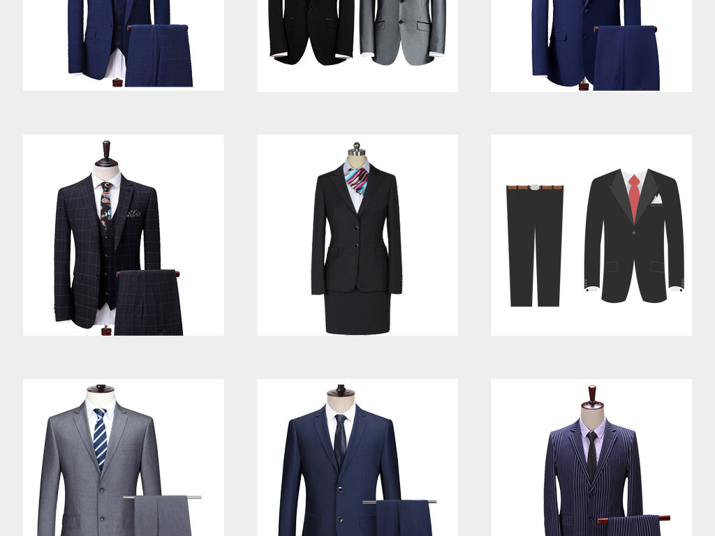 商务男士正装西装西服服装设计衣